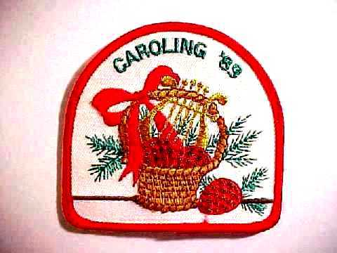 1989 Unused Girl Scouts Christmas Caroling '89 Patch Badge