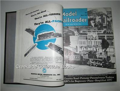 1948 Model Railroader Bound Volume 15 Jan-Dec Full Year