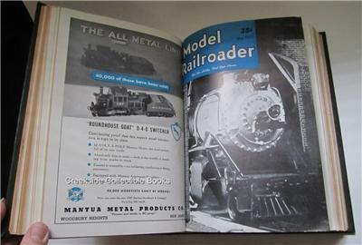 1947 Model Railroader Bound Volume 14 Jan-Dec Full Year