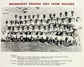 MLB 1963 Milwaukee Braves Team Picture Spahn Aaron 8 X 10 Photo Picture  - $6.99