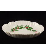 Oval porcelain holly dish 2 thumbtall