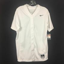 Nike Vapor Full Button Softball Game Practice Jersey Women's Large White... - $29.69