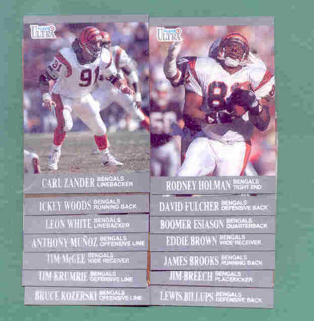 1991 Fleer Ultra Cincinnati Bengals Football Team Set