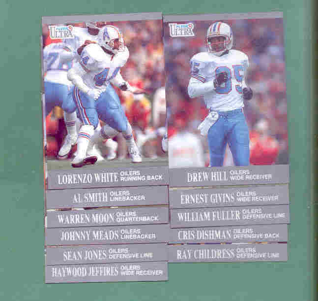 1991 Fleer Ultra Houston Oilers Football Team Set