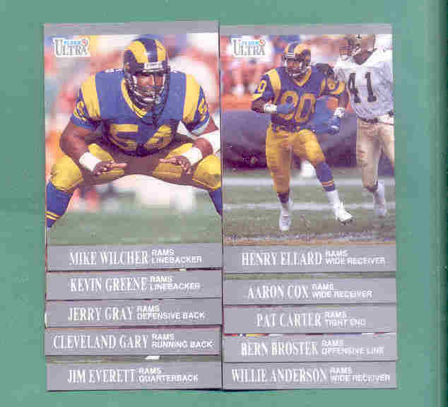 1991 Fleer Ultra Los Angeles Rams Football Team Set