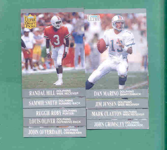 1991 Fleer Ultra Miami Dolphins Football Set