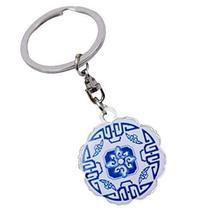 4 Pcs Creative Retro Keychain Chinese Style Key Ring Small Gift, Ceramics-1 - $12.47