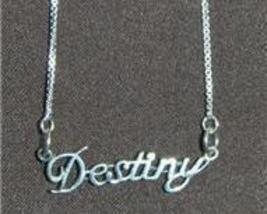 Sterling Silver Name Necklace - Name Plate - DESTINY - $54.00