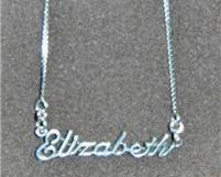 Sterling Silver Name Necklace - Name Plate - ELIZABETH