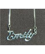 Sterling Silver Name Necklace - Name Plate - EMILY - $54.00