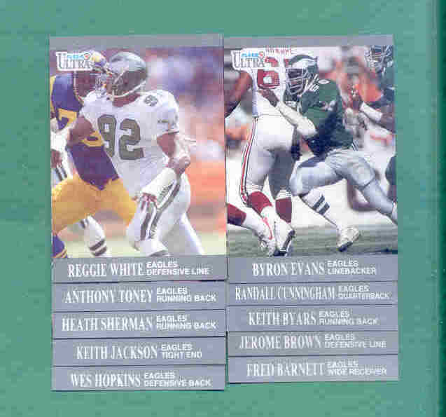 1991 Fleer Ultra Philadelphia Eagles Football Team Set