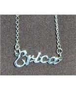 Sterling Silver Name Necklace - Name Plate - ERICA - $54.00