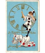 1910 JULIUS BIEN, NEW YEARS, CLOWN, PIERROT, MI... - $12.00