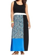 Women's Summer party cocktail Church Cruise Colorblock Maxi Dress plus 1... - $71.27