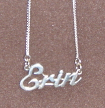 Sterling Silver Name Necklace - Name Plate - ERIN - $54.00