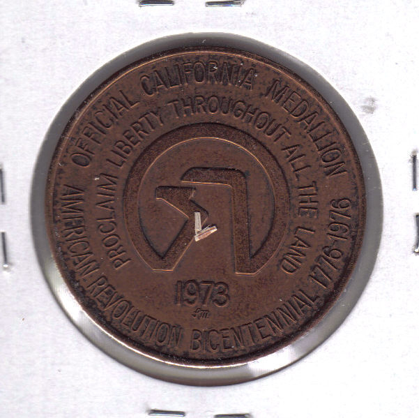 CALIFORNIA HISTORIC EVENTS Official Medallion