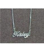 Sterling Silver Name Necklace - Name Plate - HALEY - $54.00