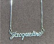 Sterling Silver Name Necklace - Name Plate - JACQUELINE