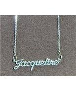 Sterling Silver Name Necklace - Name Plate - JACQUELINE - $54.00