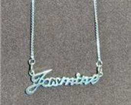 Sterling Silver Name Necklace - Name Plate - JASMINE - $54.00