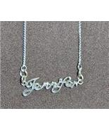 Sterling Silver Name Necklace - Name Plate - JENNIFER - $54.00