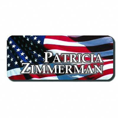 Custom Personalized Name Badge 1 1/2  x 3 inches ALUMINUM