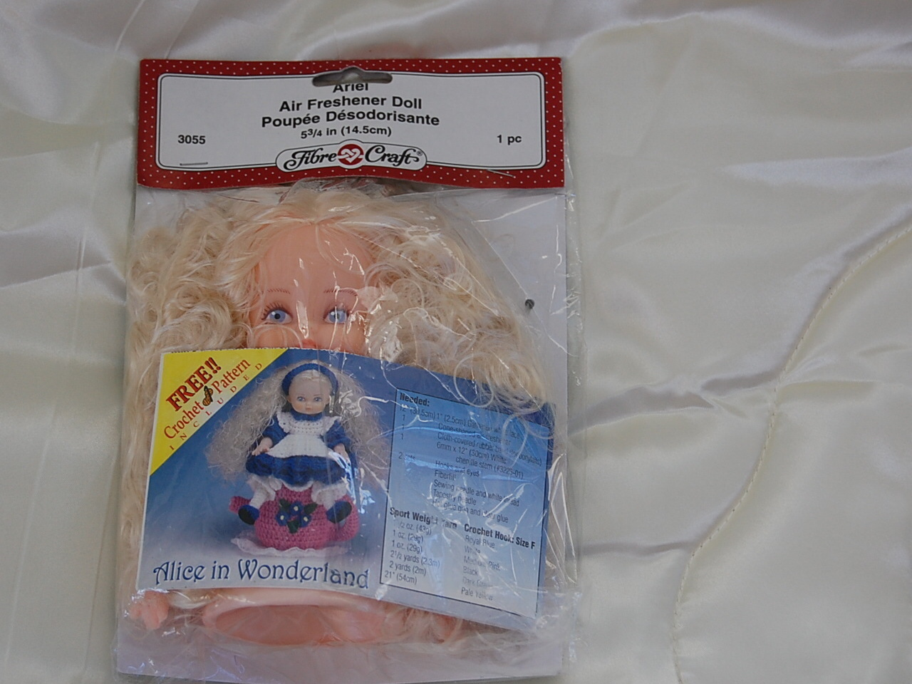 Fibre craft ariel air freshener doll with alice in for Fibre craft 18 inch doll