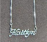 Sterling Silver Name Necklace - Name Plate - KAITLYN
