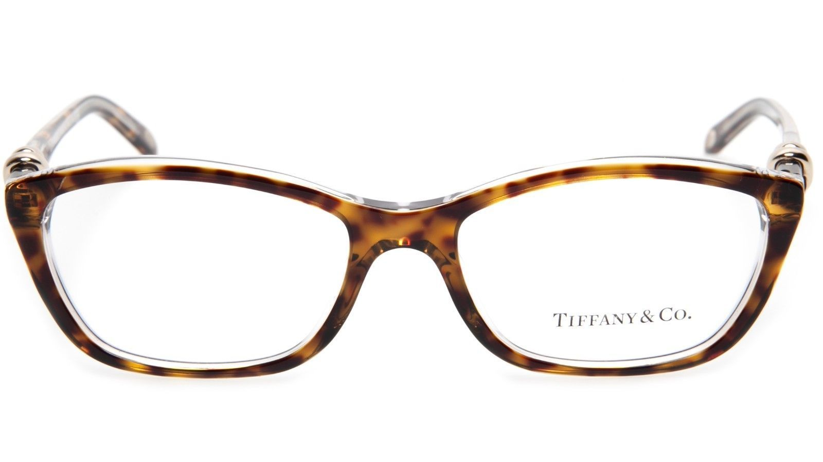 1187eb5b3627 NEW TIFFANY   Co. TF 2074 8155 HAVANA TRANSPARENT EYEGLASSES 52-16-135