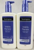 Neutrogena Visibly Renew  Supple Touch Body Lotion 2 Bottles B4 - $27.67