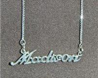 Sterling Silver Name Necklace - Name Plate - MADISON