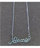 Sterling Silver Name Necklace - Name Plate - ALEXIS - $54.00
