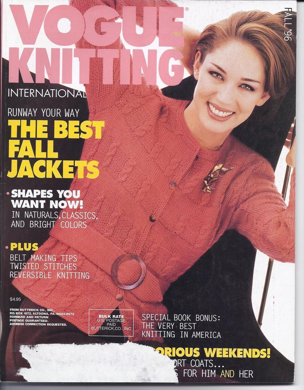Knitting Magazines List : Vogue knitting magazine fall patterns contemporary