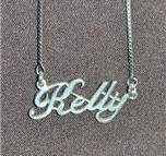 Sterling Silver Name Necklace - Name Plate - KELLY