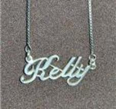 Sterling Silver Name Necklace - Name Plate - KELLY - $54.00