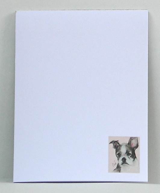 Boston Terrier Art Note Pads Stationery Memo Pad Solomon