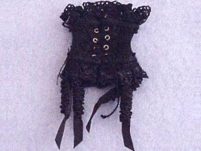 Primary image for Dollhouse Black Corset HOXZ905 Heidi Ott Miniature Lady Miniataure