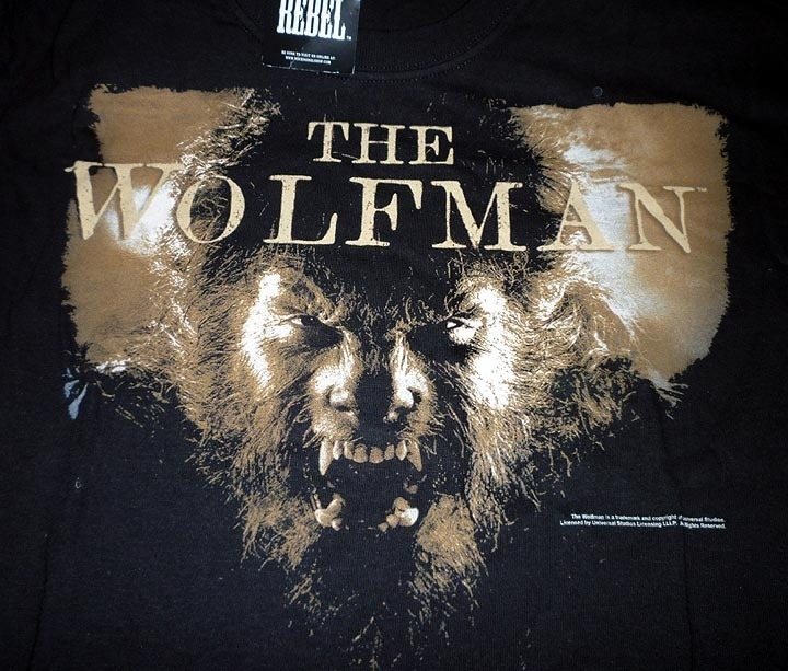 THE WOLFMAN Promo movie T-Shirt adult L LARGE