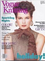 Vogue Knitting Magazine~Holiday 1987~RARE - $15.99