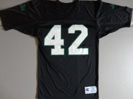 VTG BLACK Champion New York Jets #42 Ronnie Lott NFL Screen Jersey Mens ... - €39,44 EUR