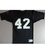VTG BLACK Champion New York Jets #42 Ronnie Lott NFL Screen Jersey Mens ... - $44.43