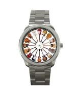 Rare CIRCLE GUITAR Rock Custom Metal Watch Wristwatch - $0.99