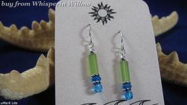 Sea/Beach Slender Cipher Earrings # 6 - $14.99