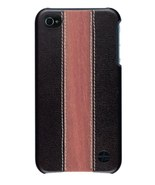 Trexta Leather & Cherry Wood Hard Snap On Case iPhone 4 - $16.95