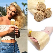 #613 Blonde Brazilian Virgin Human Hair Straight 1 Bundle 8 Inches Unpro... - $30.92