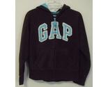 Girls gap brown with aqua trim fleece top size 8 m thumb155 crop