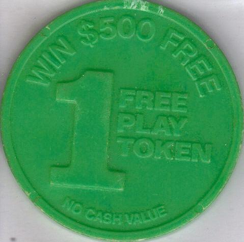 WESTWARD HO CASINO Vegas 1 Free Play Token