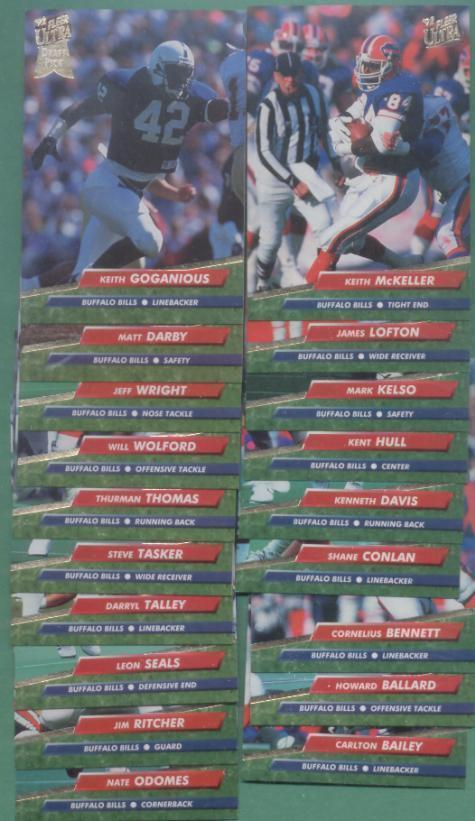 1992 Fleer Ultra Buffalo Bills Football Team Set