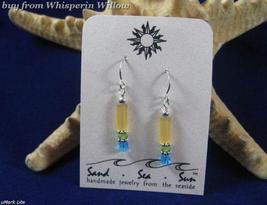 Sea/Beach Slender Cipher Earrings # 8065 - $14.99