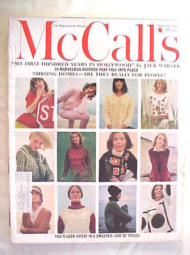 McCALL'S September 1964 BARBARA ROBINSON PEARL S BUCK FASHION SWEATERS ART KANE